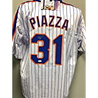$149 » Mike Piazza New York Mets Signed Autograph Custom Jersey JSA Certified