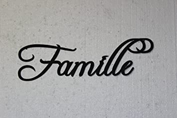 Beau Famille Word French Word For Family Home Decor Metal Wall Art