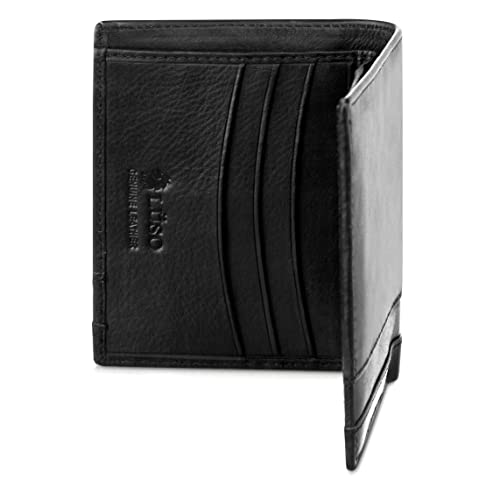TOP CHOICE Men's Compact Designer Wallet | Best Small Wallet | Perfect Leather Credit Card Holder | Very Smart Wallet by Men's Wallets Designer Lüso of London