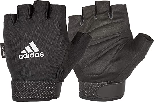Adidas Gloves Mens Essential Sports Training Weight Lifting Black Brand New