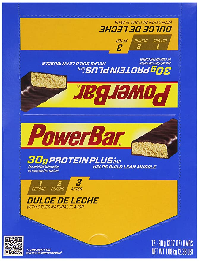 Powerbar Protein Plus 30 g Dulce de Leche, Caja de 12: Amazon.es: Deportes y aire libre