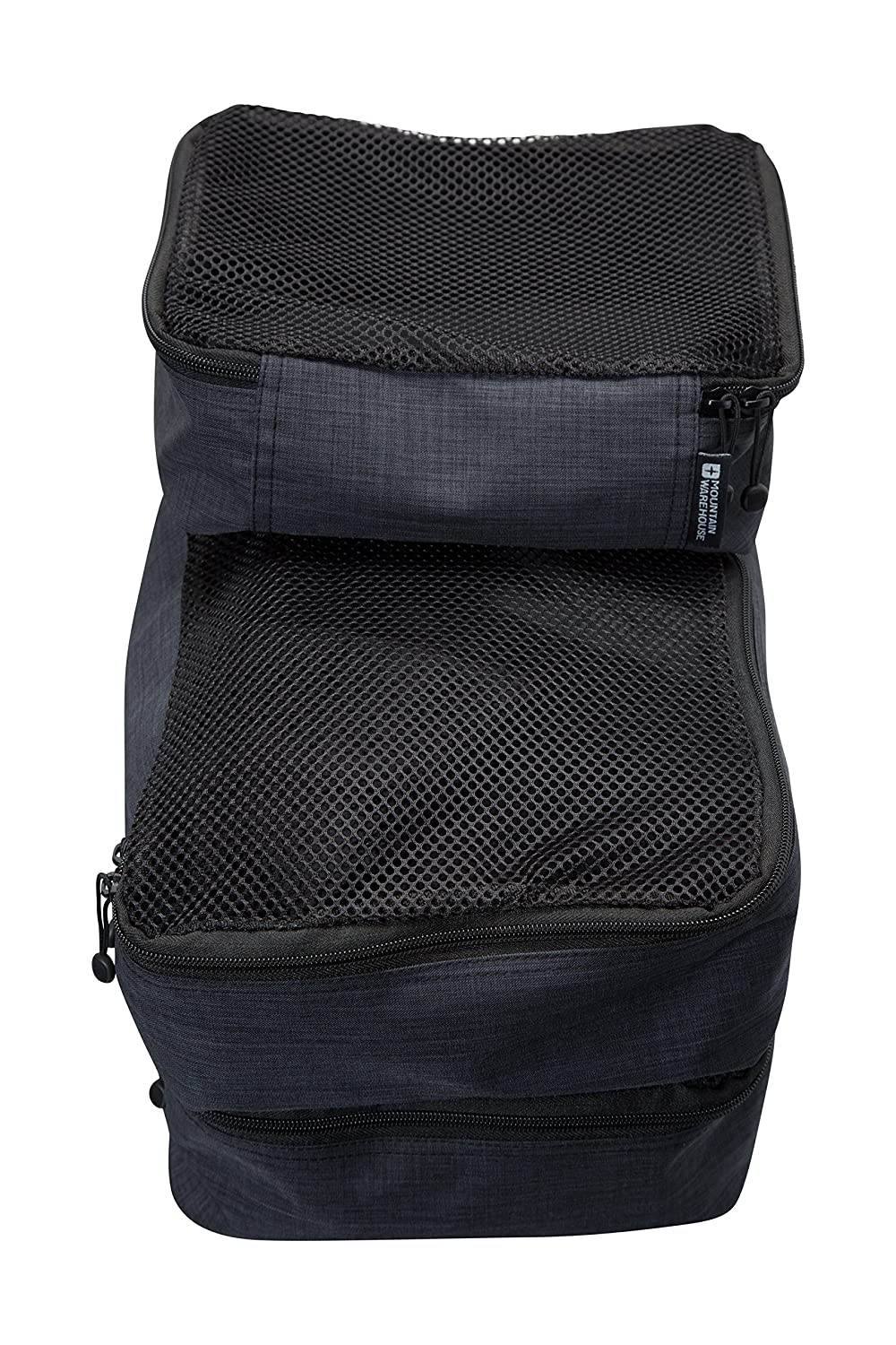 Mountain Warehouse Travel Organiser Home /& Camping Set of 3 Packing Cubes Zipped Compartments Storage Bags with Easy Fit in Travel Bag Great for Travelling