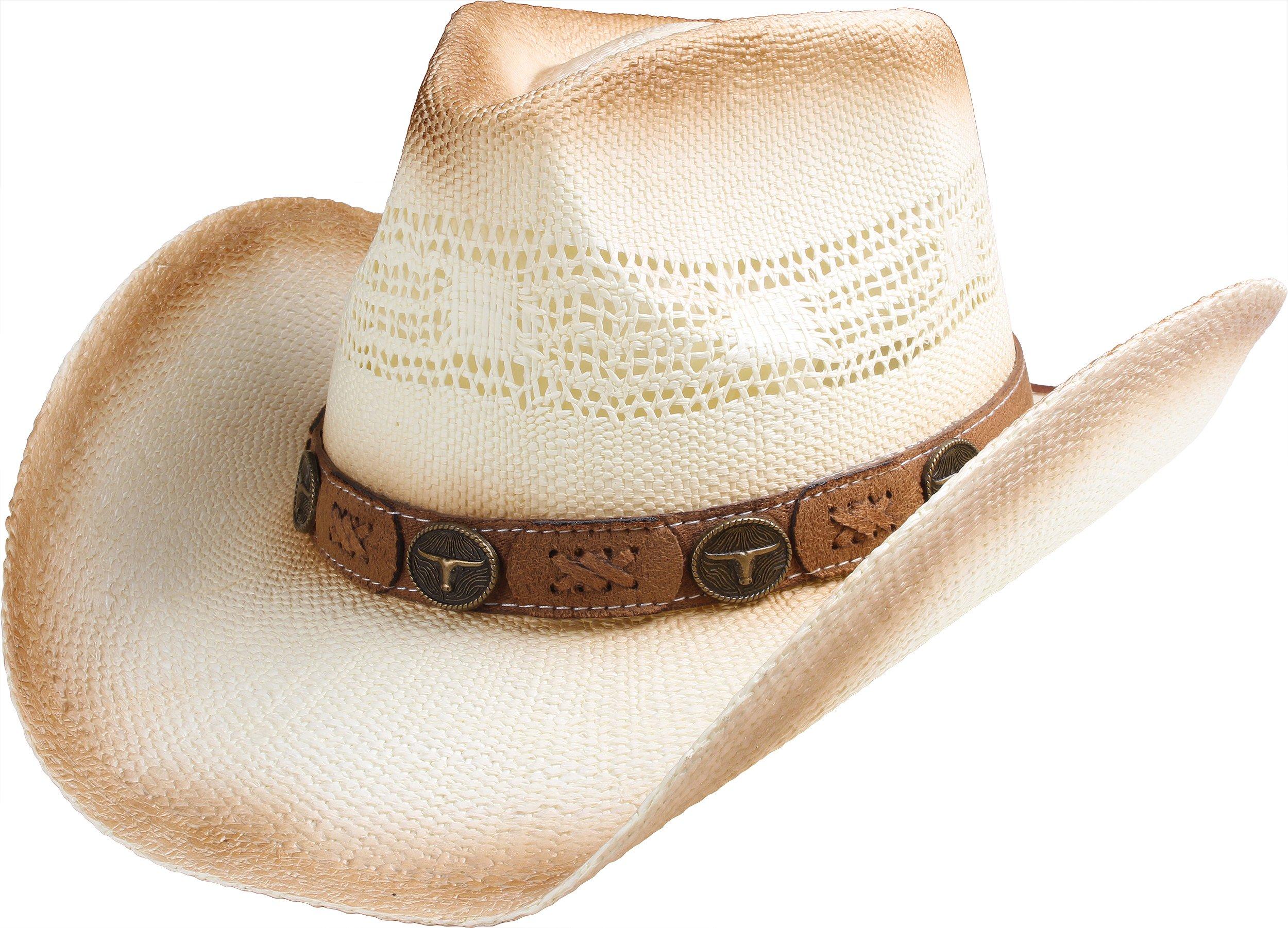 b4118f9f35cbd Queue Essentials Straw Cowboy Hat for Men Cowgirl Hat for Women Western  Wide Brim Hat Hats