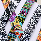 Set of 4 Soft Printed ID Neck Lanyard - Urban Trends