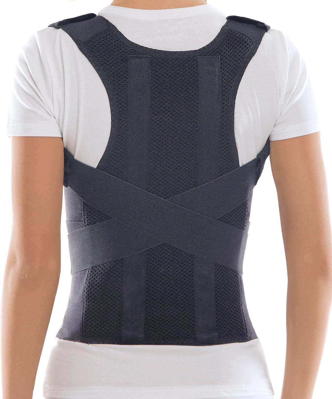 Corrector Postura y Soporte para Espalda- corrección de postura Small Negro
