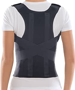 TOROS-GROUP Comfort Posture Corrector Shoulder and Back Brace Support Lumbar Support for Men and Women (Small)