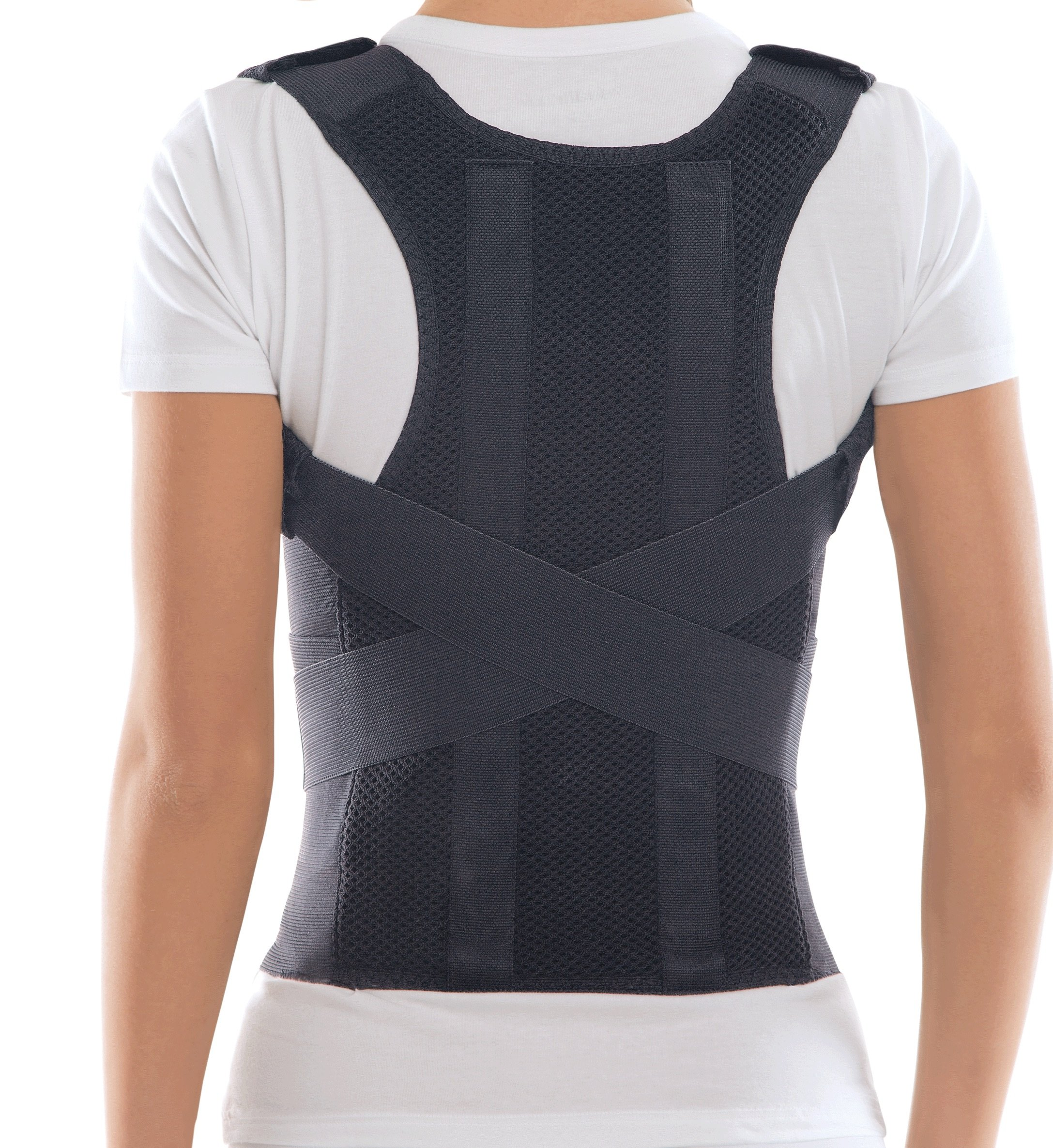 TOROS-GROUP Comfort Posture Corrector Clavicle and Shoulder Support Back Brace, Upper and Lower Back Pain Relief, Fully Adjustable for Men and Women, Thoracic Kyphosis M /656A-3 by TOROS-GROUP