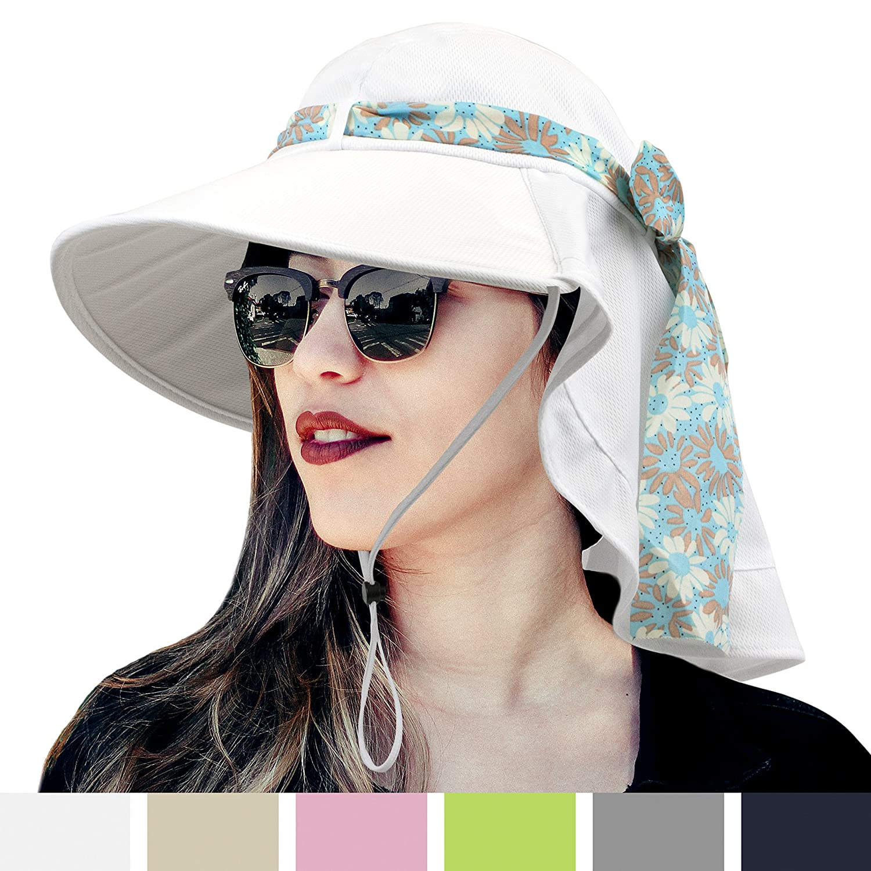 9a5c47f2155d44 SUN CUBE Womens Outdoor Sun Hat | UPF 50+ UV Protection Summer Hat ...