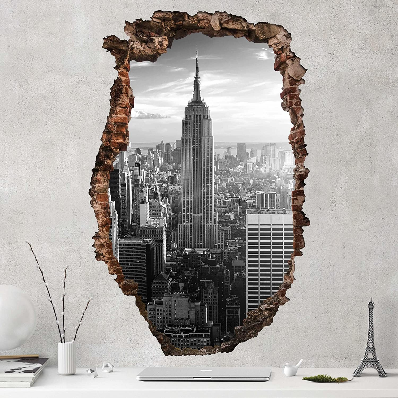 Bilderwelten Tatuaje de Pared 3D - Manhattan Skyline - Alto 3:2 ...