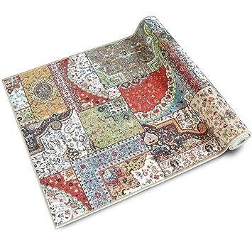Teppichläufer Tesoro   Patchwork Muster im Vintage Look   viele ...