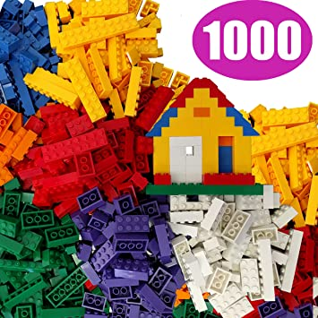 Amazon.com: FLASH SALE | 1000 Building Bricks - Tight Fit and ...