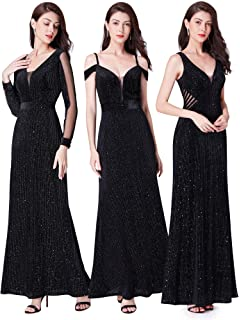 1a50f1caf177 Ever Pretty Women's Illusion V-Neck Mermaid Shimmery Velvet with Glitter Formal  Evening Dress 07439