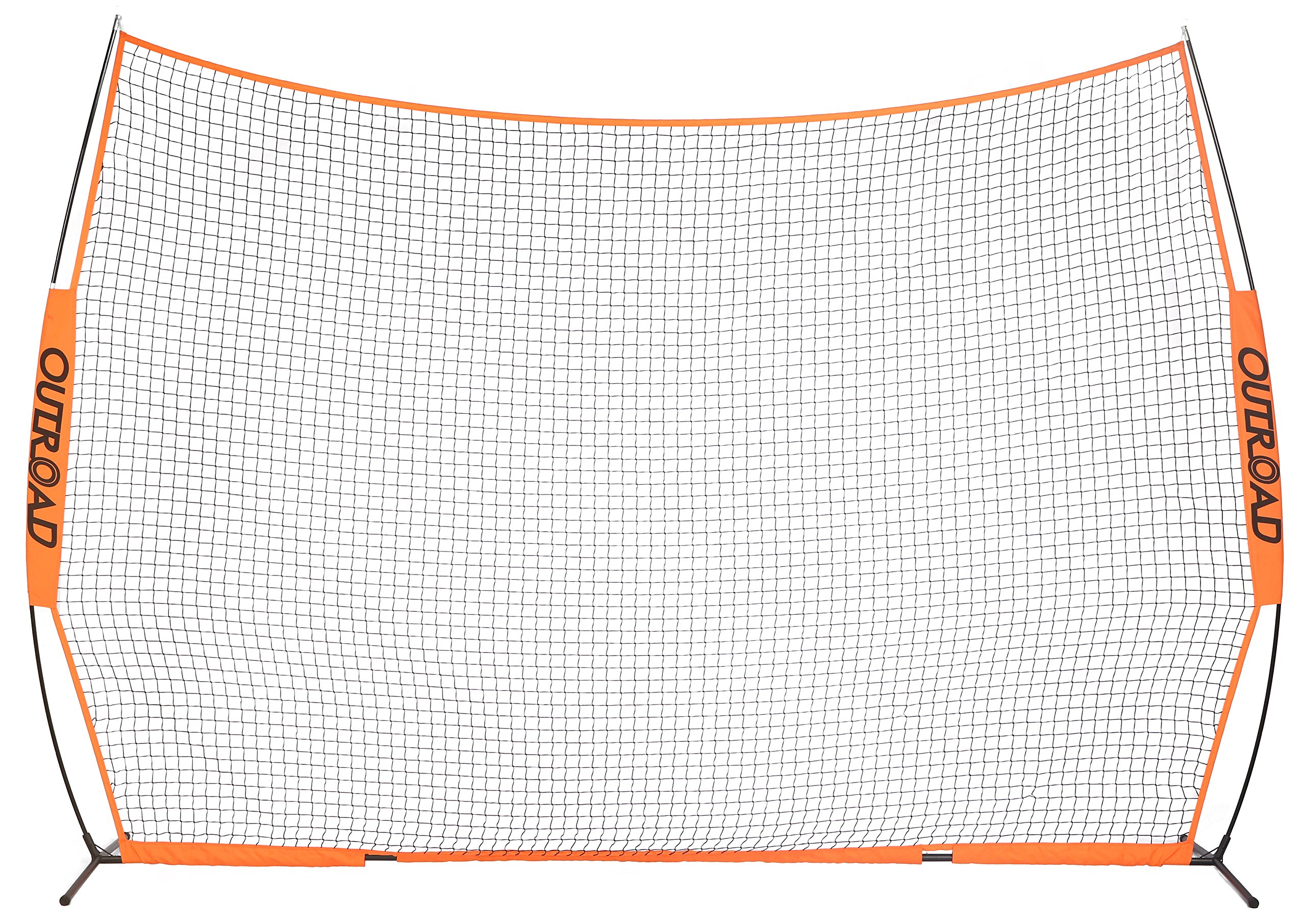 OUTROAD 12x9 FT Barrier Net - Portable Sports Barricade Practice Backstop Net w/Carry Bag
