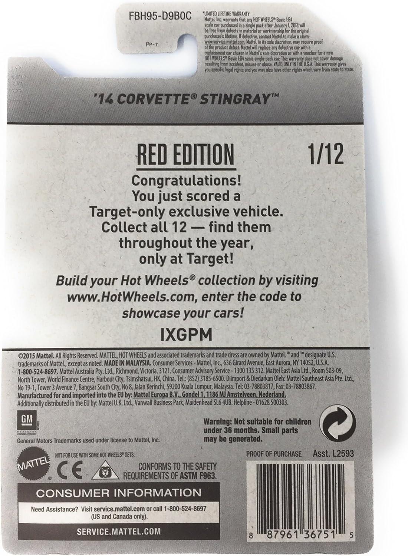 Hot Wheels 2017 14 Corvette Stingray Target Red Edition 112
