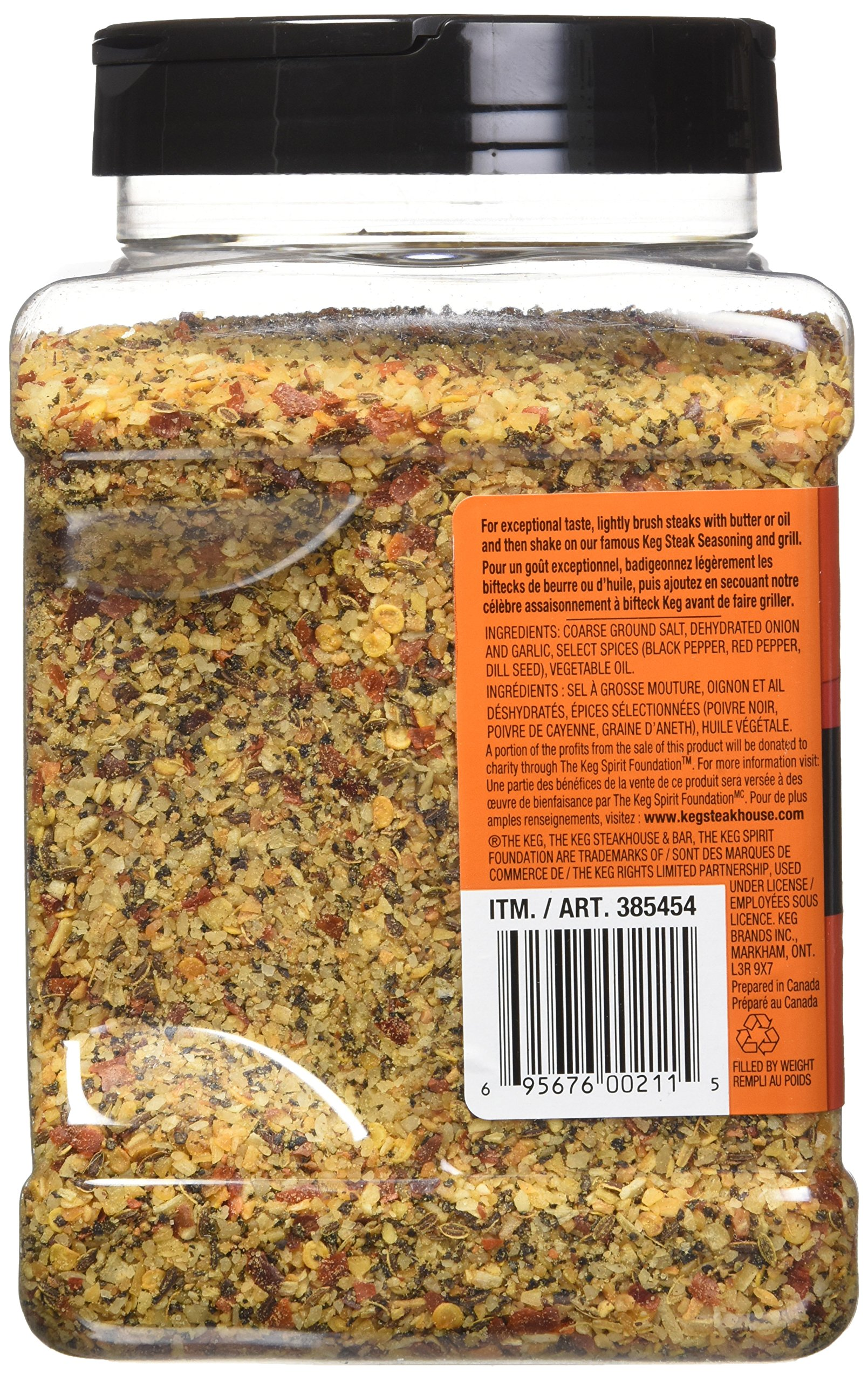 The Keg Steakhouse Steak Seasoning Gluten Free No MSG Added - 1.1kg | 38.8oz {Imported from Canada} by The Keg (Image #4)