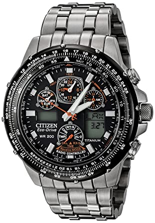 Citizen Men's JY0010 50E Eco Drive Skyhawk AT Titanium Watch