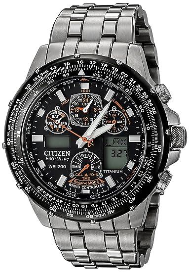Citizen JY0010-50E - Reloj cronógrafo de cuarzo para hombre, correa de titanio