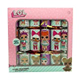 L.O.L. Surprise ! 6 Fun Christmas Crackers with Novelty Toy Gifts for Girls Stickers Party Hat Xmas Supplies LOL Dolls Confetti Pop