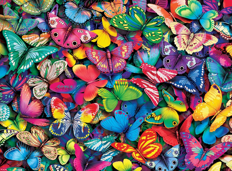 Buffalo Games - Vivid Collection - Butterflies - 1000 Piece Jigsaw Puzzle
