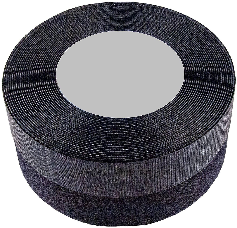 SPARIK ENJOY (TM) 1 Inches 25 yards Black Sew on Hook and Loop (1 inch, 25 yards) by Sparik Enjoy (Image #1)