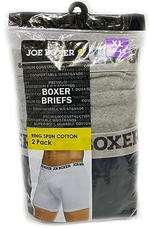 baeef50265e5 2 Joe Boxer Ring Spun Cotton Boxer Briefs (XL ) at Amazon Men's Clothing  store: