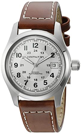 8a6a1fb6a Image Unavailable. Image not available for. Color: Hamilton Khaki Field  Silver Dial Mens Watch H70455553