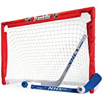 Franklin Sports Indoor-Outdoor Youth Mini Hockey Goal-Stick Set