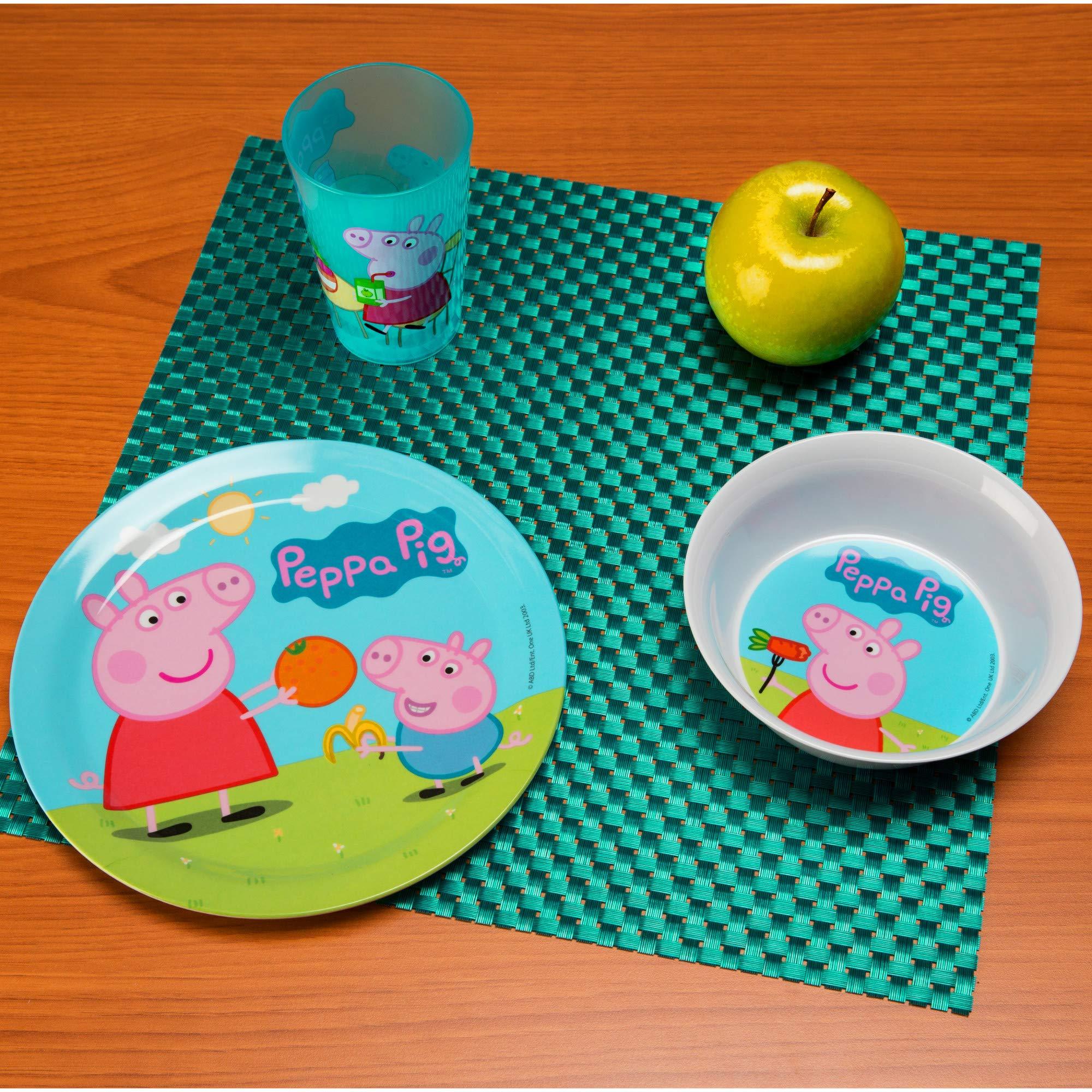 Nick Jr. PEPA-0391 Peppa Pig Melamine Plates 3-piece set by Zak Designs by Zak Designs (Image #7)