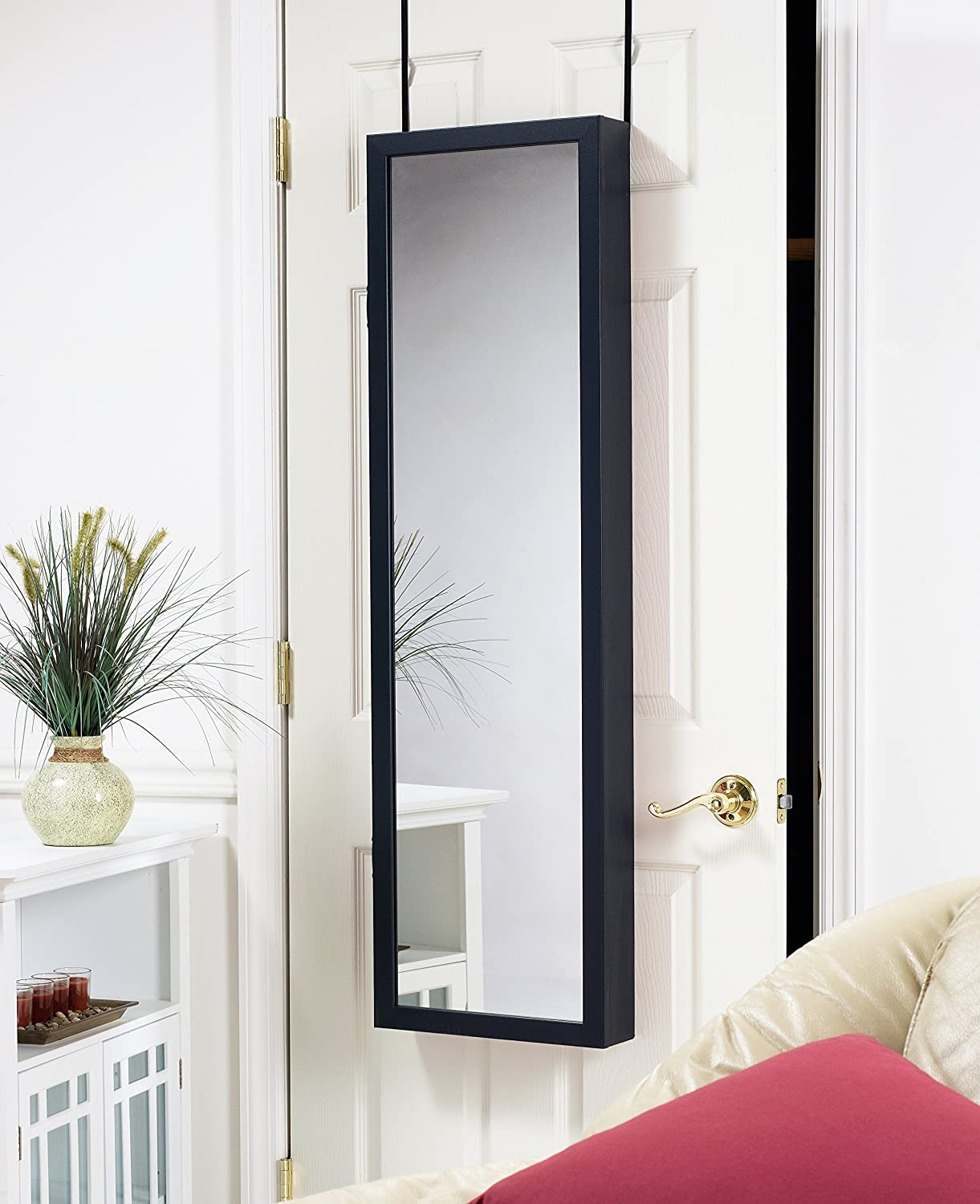 Attractive Amazon.com: Plaza Astoria Wall/Door Mount Jewelry Armoire, Black: Home U0026  Kitchen