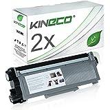 Kineco 2 Toner kompatibel für Brother TN-2320 TN-2310 für Brother HL-L2340DW, HL-L2300D, MFC-L2700DW, DCPL2520DWG1, DCP-L2500D, HL-L2360DN - TN2320 TN2310 - Schwarz XXL Füllmenge je 5.200 Seiten