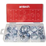Am-Tech 26 piezas Surtido de manguera kit de abrazaderas, S6290