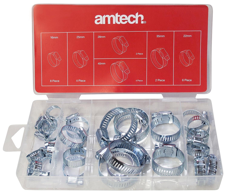 Am-Tech Coffret de 26 colliers de serrage AM-S6290