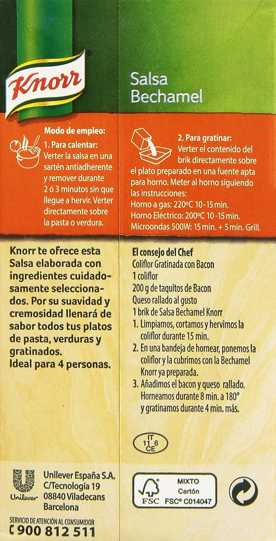Knorr - Salsa Envase Bechamel Ambiente 500 ml: Amazon.es: Alimentación y bebidas