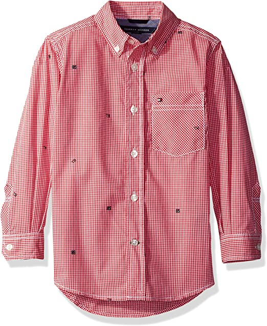 Tommy Hilfiger Boys Boys Long Sleeve Cross Gingham Dress Shirt Dress Shirt