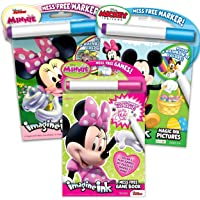 Imagine Ink Coloring Book Set Minnie Mouse - 3 Magic Ink Books Featuring 3 different Minnie Books