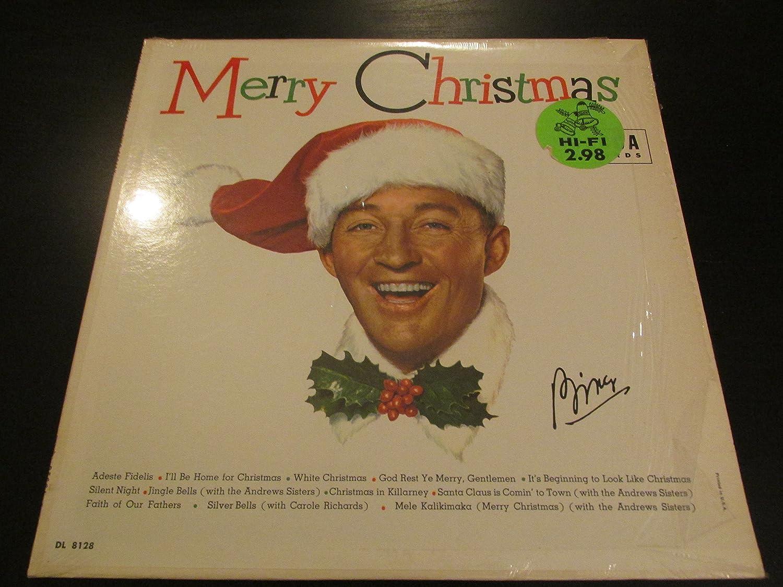 bing crosby bing crosby merry christmas lp vinyl record amazon com music