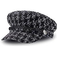 Boinas para Mujer Vintage Sombreros de Pata de Gallo Clásico Gorra Caliente Beret Gorras Planos de Invierno Elegantes…