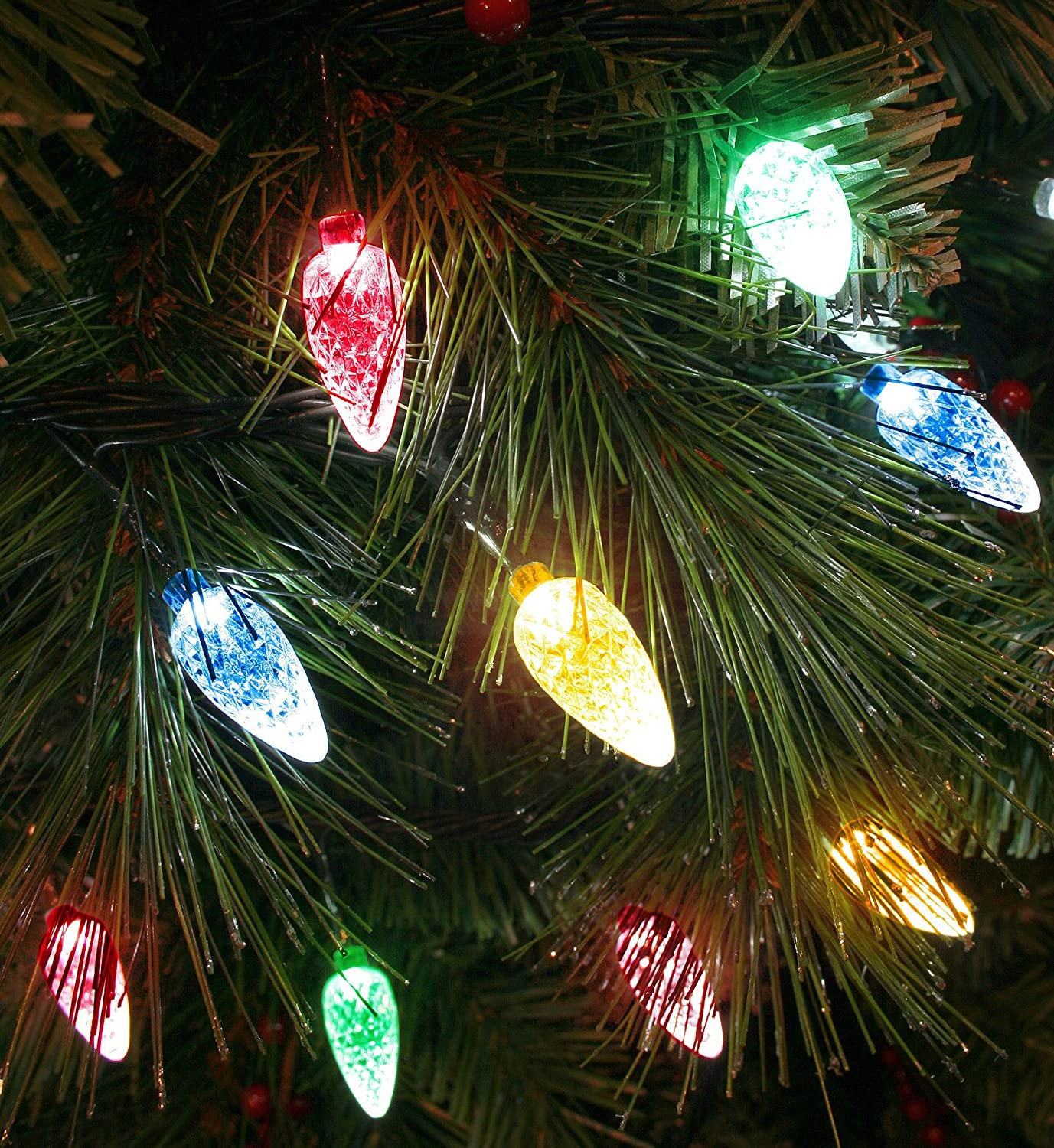 100x multicoloured led faceted cone light set indooroutdoor 100x multicoloured led faceted cone light set indooroutdoor christmas tree lights 8264gm amazon lighting aloadofball Choice Image