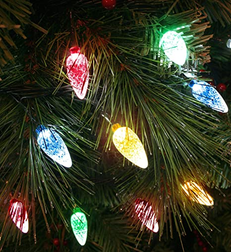 Outdoor Xmas Tree Lights 100x multicoloured led faceted cone light set indooroutdoor 100x multicoloured led faceted cone light set indooroutdoor christmas tree lights 8264gm workwithnaturefo