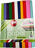 ClassyStylez 100-piece Premium Quality Tissue Gift Wrapping Paper Crafts, Packing with 10 White Tissue Paper, 20 x 30 Inches, Assorted Colors