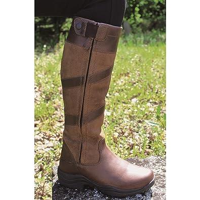dbc124615fb Mark Todd Waterproof Tall Zip Boots Brown  Amazon.co.uk  Sports   Outdoors
