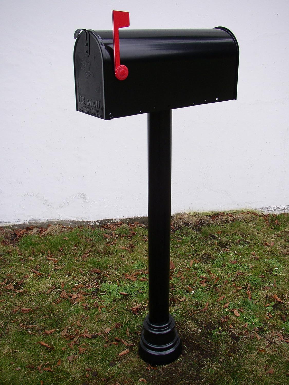 Aluminium schwarz Briefkasten Mailbox-Ständer Bristol US Mailbox