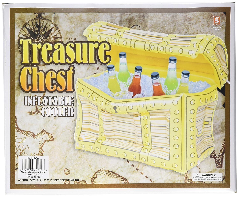 1 x hinchable enfriador de pirata cofre del tesoro.: Amazon.es ...