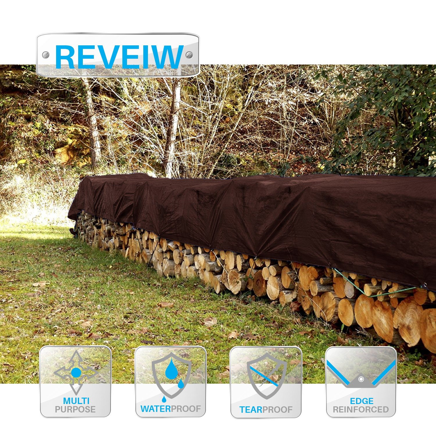 Patio Paradise 6 x 10 Heavy Duty Blue Poly Tarps Waterproof Great for Tarpaulin Canopy Tent Shelter Cover Weather Resistant Strong Reinforced Patio Paradise Inc.