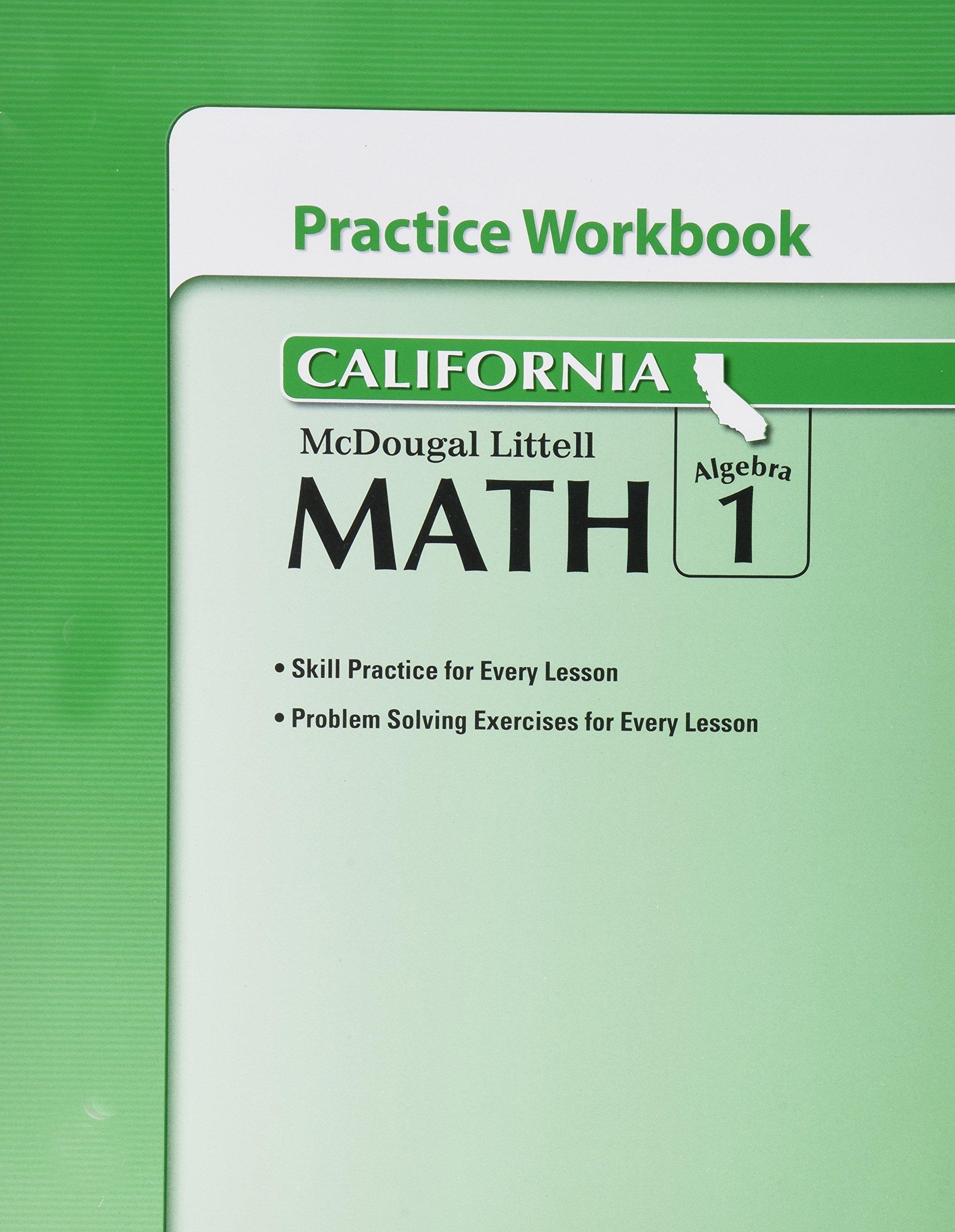 California algebra 1 practice workbook fandeluxe Image collections