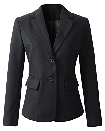 Womens Formal 2 Button Blazer Jacket at Amazon Women's Clothing store: