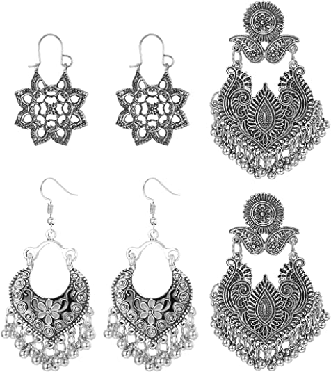 Mandala pendant earrings with tassel chain details jewelry accessories weddings store shop shoes dresses gifts