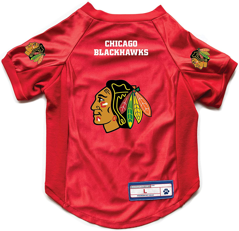 Littlearth NHL Chicago Blackhawks Pet Stretch Jersey Medium