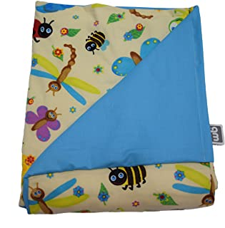 "product image for WEIGHTED BLANKETS PLUS LLC - Made in USA - Teen Deluxe Medium Weighted Blanket - Bugs - Cotton/Flannel (66"" L x 41"" W) 12lb HIGH Pressure."