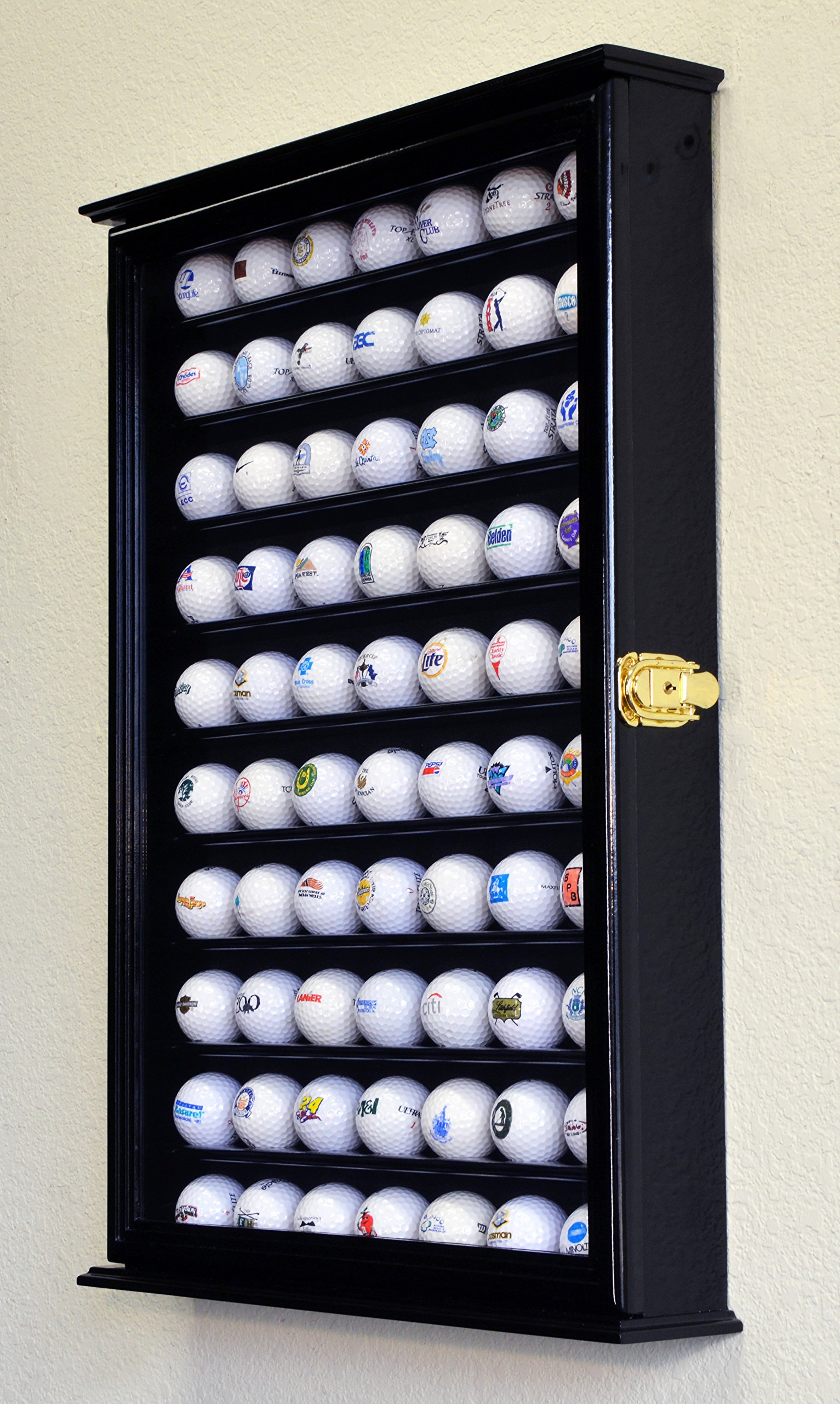 70 Golf Ball Display Case Cabinet Holder Wall Rack w/ UV Protection -Black by sfDisplay (Image #3)